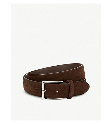 ANDERSONS Classic suede belt
