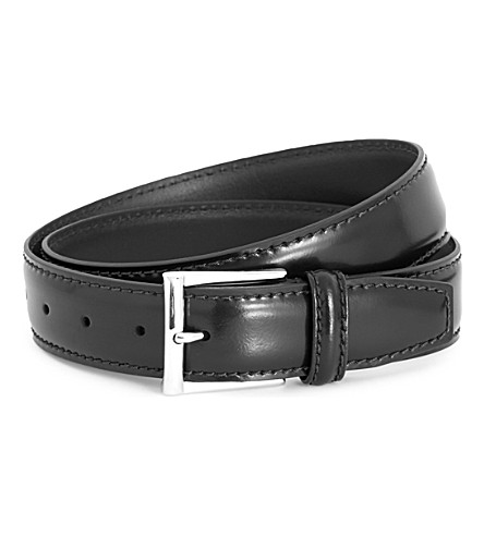 ANDERSONS Classic leather belt (Black
