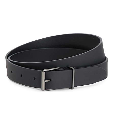 ANDERSONS Slim leather belt (Black