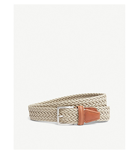 ANDERSONS Waxed woven belt (Sand