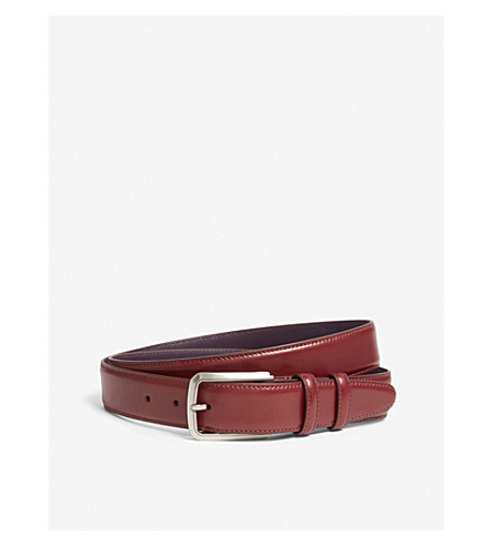 ELLIOT RHODES Classic leather belt (Burgundy