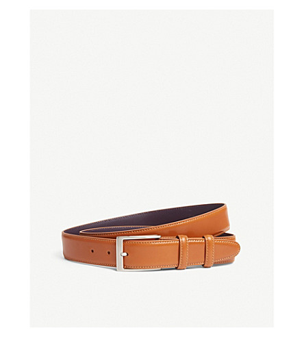 ELLIOT RHODES Classic leather belt (Tan