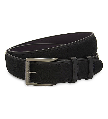 ELLIOT RHODES Pony hair leather belt (Black