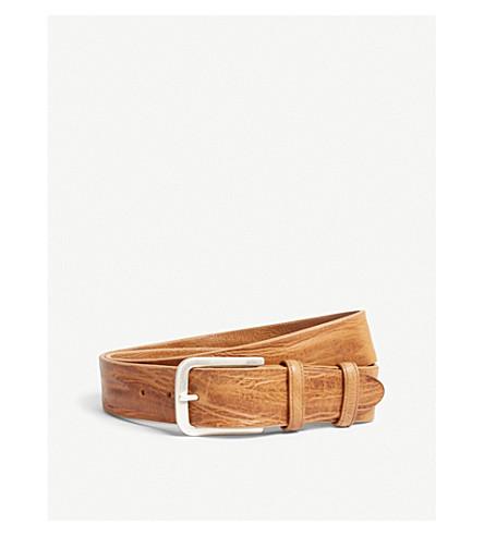 ELLIOT RHODES Vintage leather belt (Tan