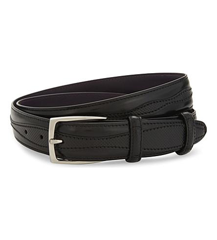 ELLIOT RHODES Jolson leather belt (Black