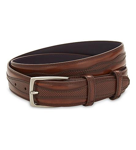 ELLIOT RHODES Jolson cordovan leather belt (Brown