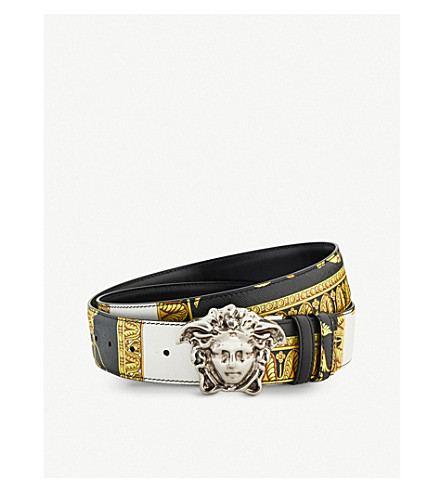 VERSACE Medusa head reversible leather belt (Multi
