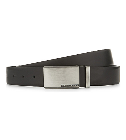 BOSS Odell reversible leather belt (Blk/brown