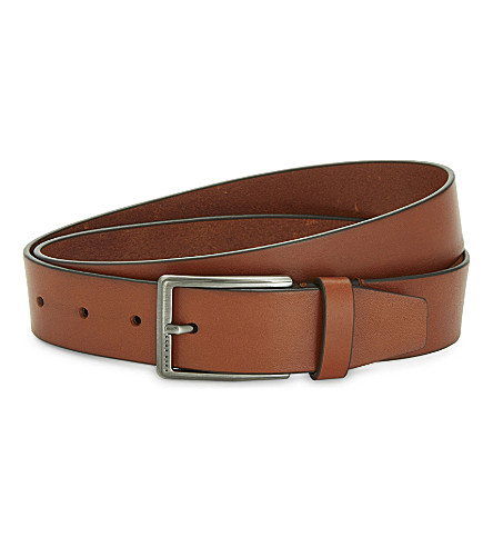 BOSS Sammyo leather belt (Medium+brown