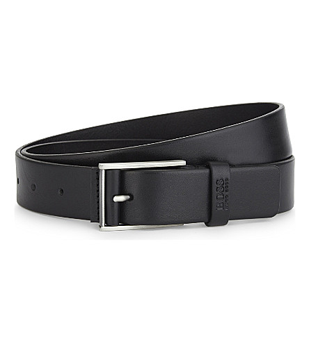 BOSS Sebe leather belt (Black