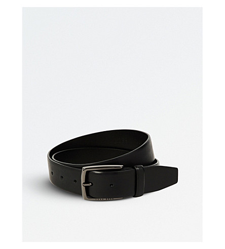 BOSS Celie leather belt (Black