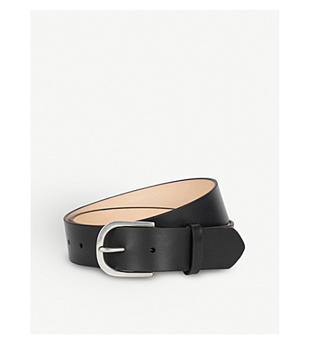PAUL SMITH ACCESSORIES Classic leather belt (Black