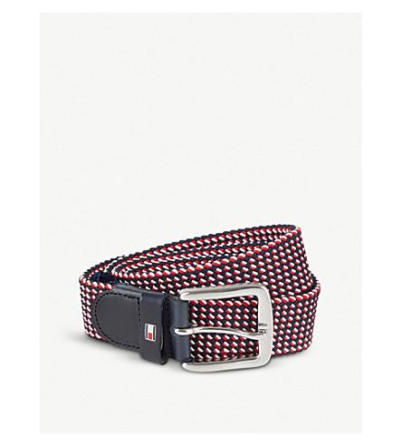 TOMMY HILFIGER Striped elasticated belt (Red+wht+nvy