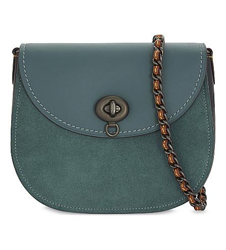COACH Turnlock saddle bag (Bp/dark+turquoise