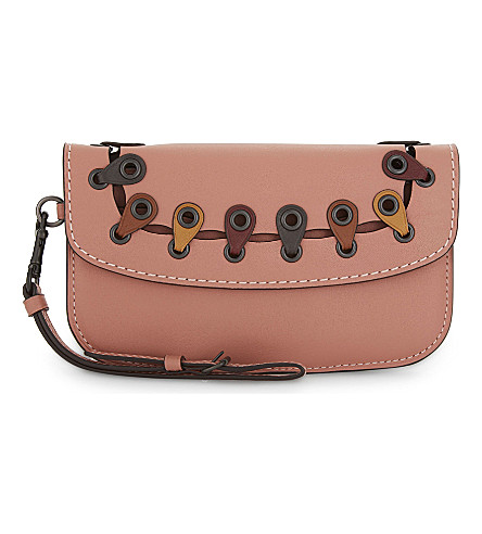 COACH 1941 wristlet leather clutch (Bp/melon+multi
