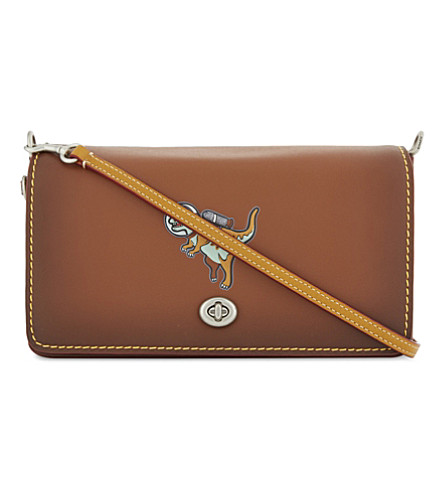 COACH Space Rexy Dinky leather cross-body bag (Saddle