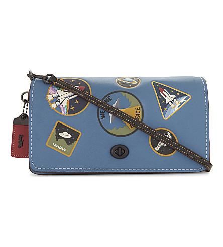 COACH Dinky space patches leather cross-body bag (River