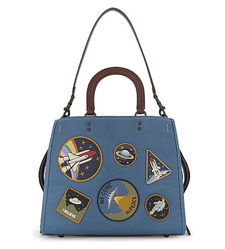 COACH Rogue Space patches leather tote (River