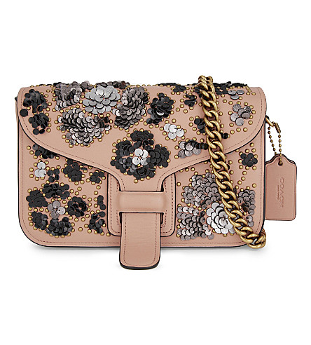 COACH Coach & Rodarte leather clutch (Pink multi