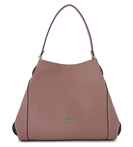COACH Edie 31 Tearose leather shoulder bag (Dusty+rose