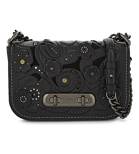 COACH Swagger 20 Tearose leather cross-body bag (Black