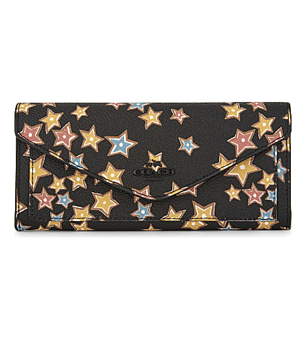 COACH Starlight coated canvas wallet (Black