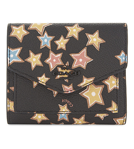 COACH Starlight small leather wallet (Black