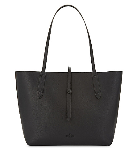 COACH Grained leather Market tote bag (Black