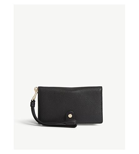 COACH Grained leather wristlet wallet