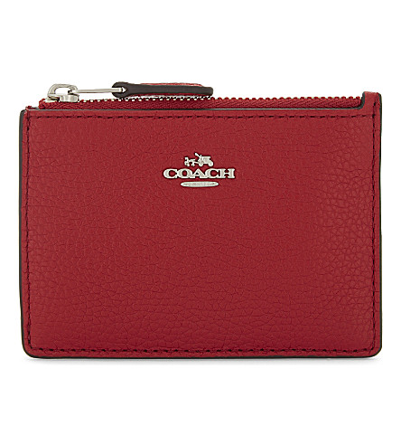 COACH Mini Skinny leather ID case (Red