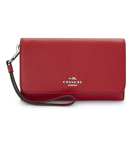 COACH Leather phone clutch bag (Red