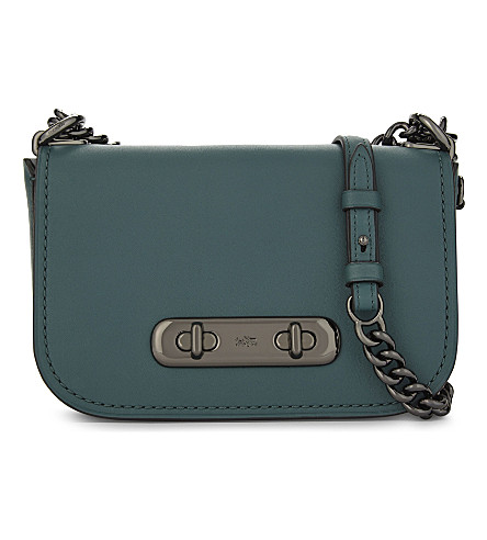 COACH Swagger 20 cross-body bag (Dark+turquoise