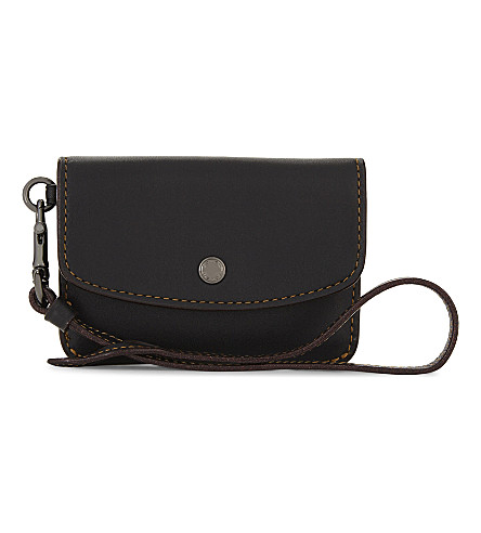 COACH Leather coin pouch (Dk/black