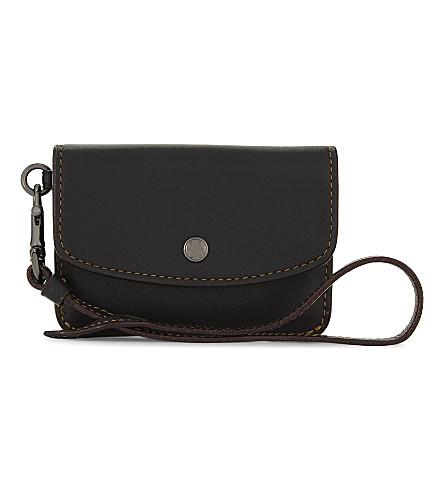 COACH 皮革硬币袋 (Dk/黑色