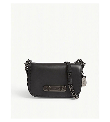 COACH Swagger leather cross-body bag (Dk/black