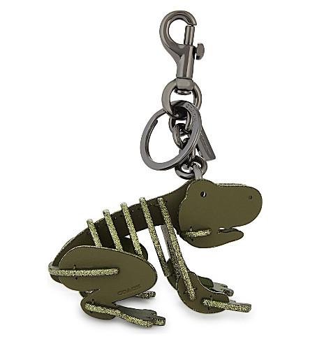 COACH Frog leather bag charm (Bk/utility
