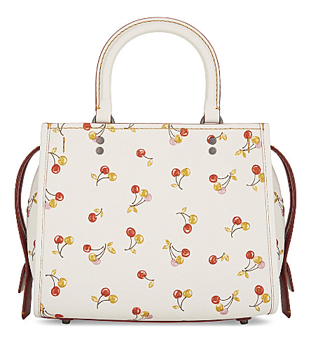 COACH Rogue 25 cherry print shoulder bag (Bp/chalk