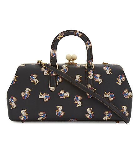 COACH Dr. Doodle Kisslock satchel 38 (Ol/black