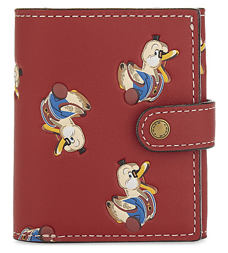 COACH Duck motif embossed leather trifold wallet (Ol/1941+red