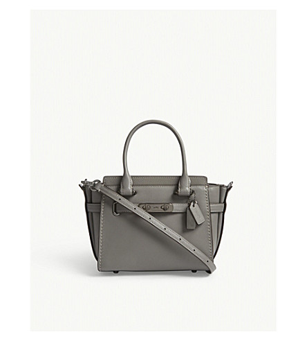 COACH Swagger leather cross-body bag (Dk/heather+grey