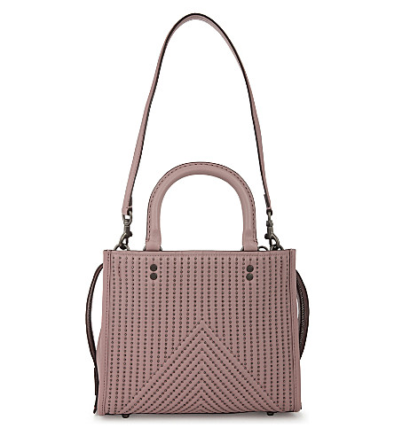 COACH Rogue 25 studded leather shoulder bag (Bp/dusty+rose