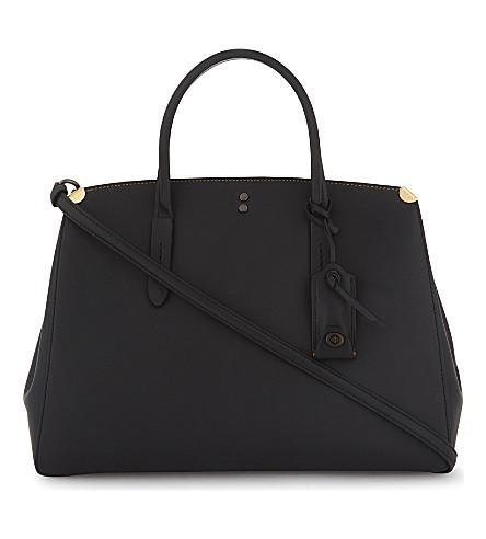 COACH Cooper leather carryall shoulder bag (Bp/black