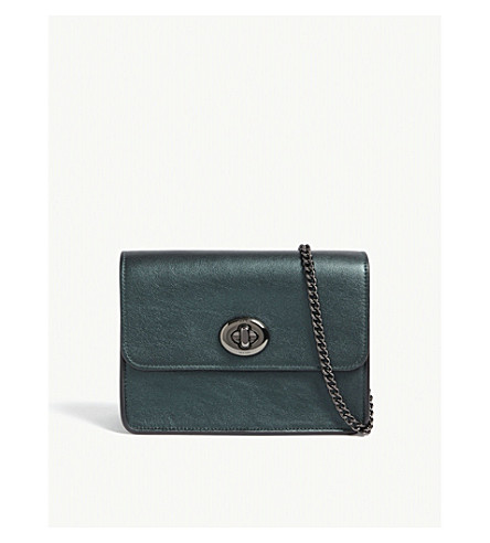 COACH Bowery leather cross-body bag (Dk/metallic+ivy