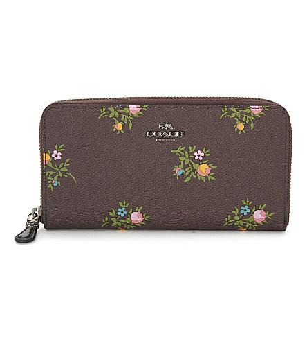 COACH Accordion wallet (Dk/oxbld+xstitch+floral