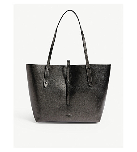 COACH Market leather tote (Gm/metallic+graphite