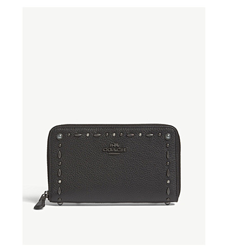 COACH Logo leather wallet (Bp/black