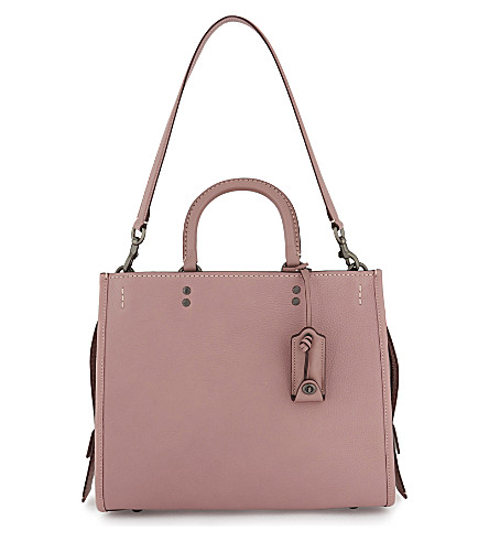 COACH Rogue leather and suede handbag (Bp/dusty+rose