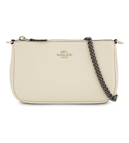 COACH Coach x Selena Gomez Nolita leather wristlet (Li/selena+white