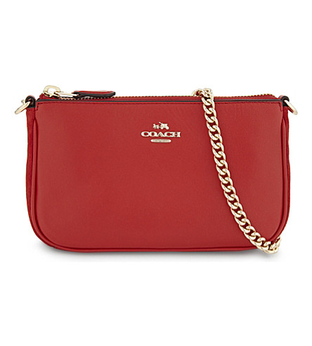 COACH Coach x Selena Gomez Nolita leather wristlet (Li/selena+red