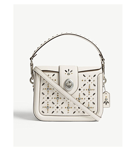 COACH Page leather cross-body bag (Lh/chalk